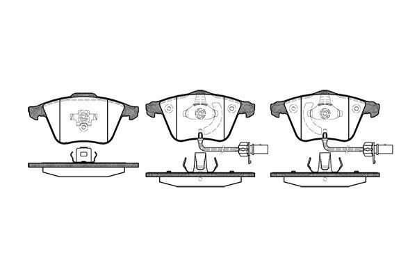 LPR 05p1239 гальмівні колодки (передні) Audi A4, Audi A6