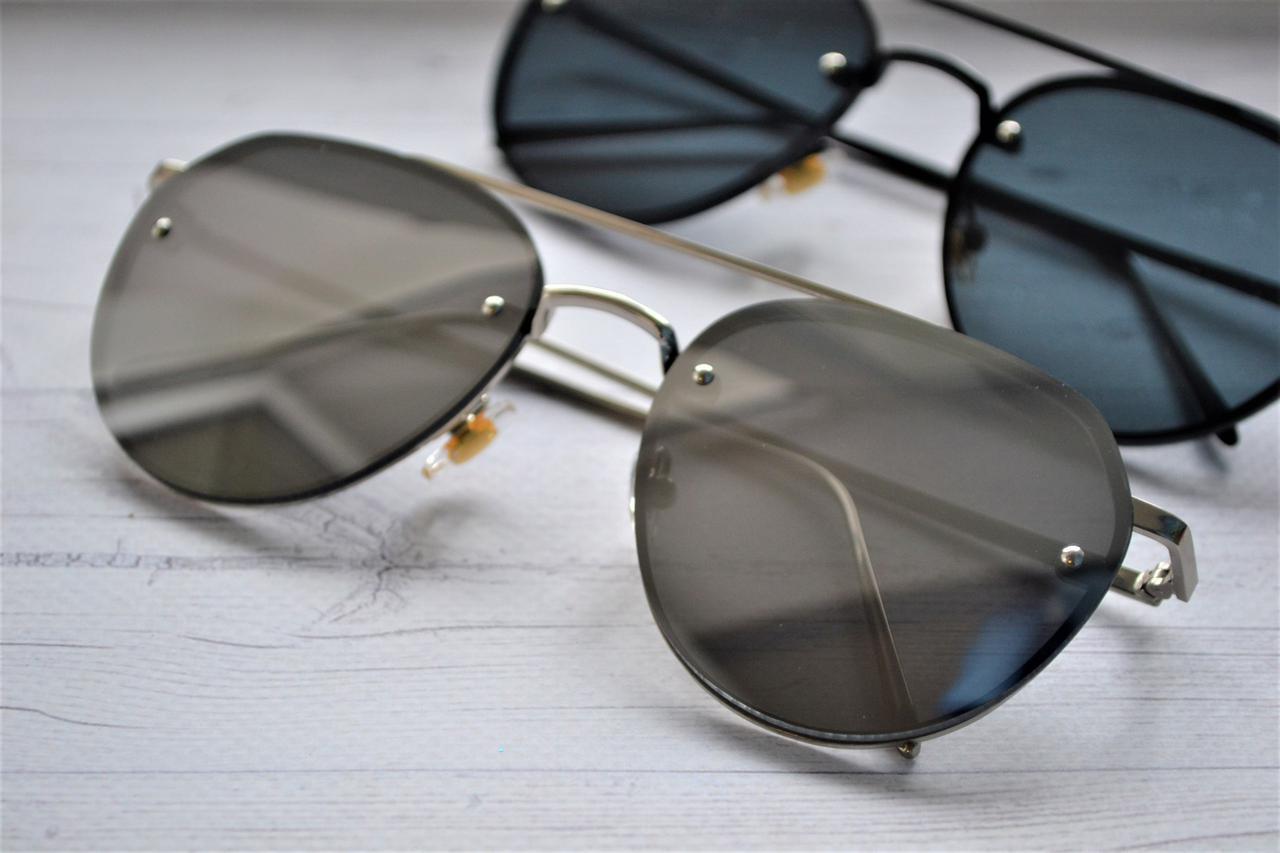 Солнцезащитные очки авиаторы капли унисекс 2018 Белый хром  продажа ... 0caf2ca44b0df