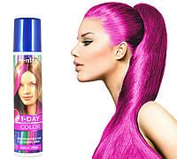 Ярко-розовая спрей-краска для волос Venita 1-day color временная баллончик аэрозоль 50 мл, фото 1