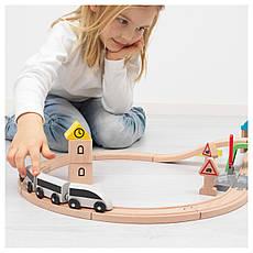 ЛИЛЛАБУ Железная дорога, набор 45 предметов, поезда и рельсы, разноцветный, 20330066, ИКЕА, IKEA, LILLABO, фото 3