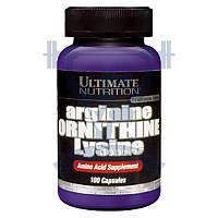 Ultimate Nutrition Arginine Ornithine Lysine аминокислоты триамино аргинин орнитин лизин спортивное питание