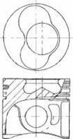 Поршень Volkswagen LT, T-4 STD 81,0 2,5TDI (цилиндры 1-2) Mahle 0305800