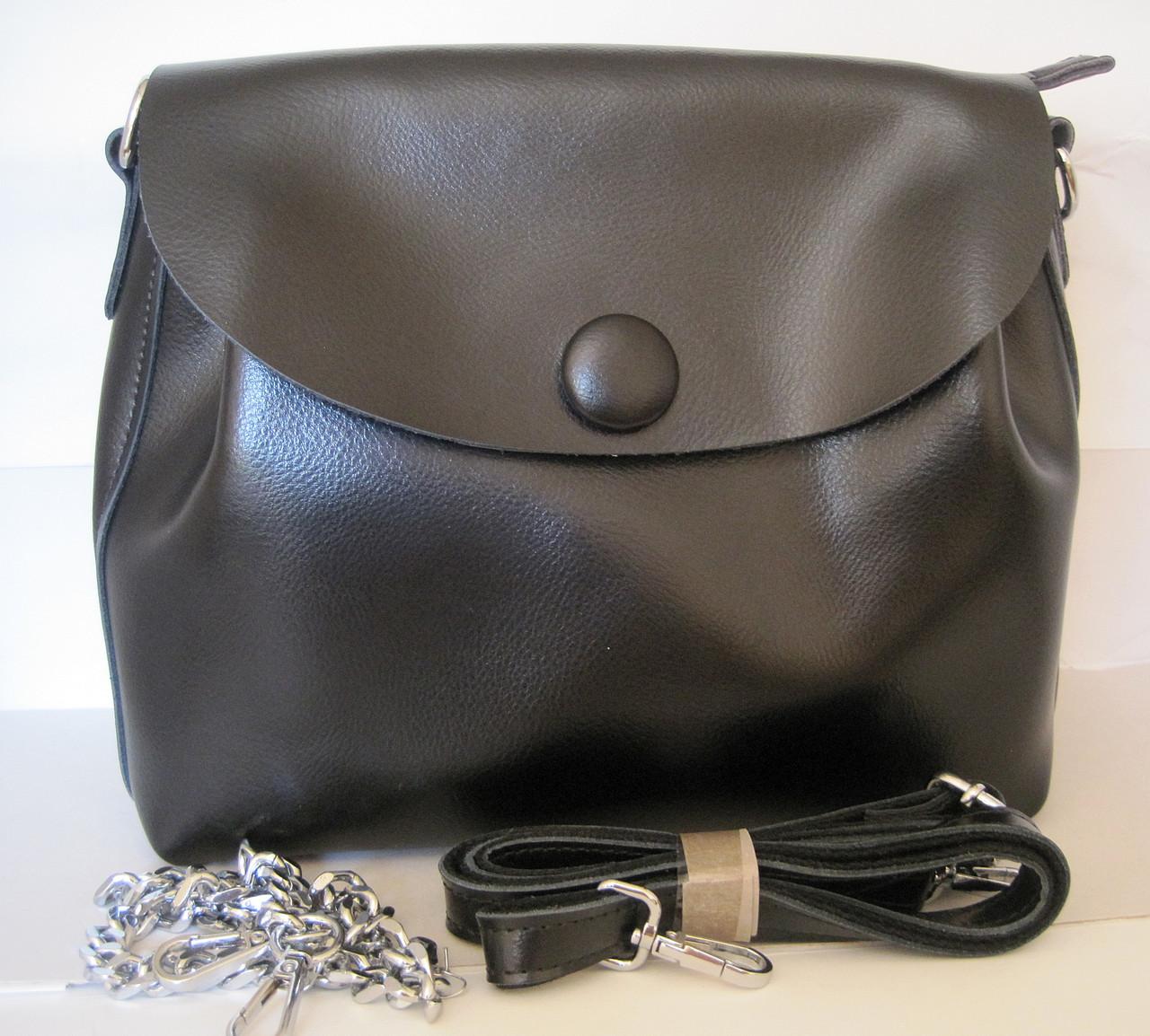 Женский кожаная сумка клатч 2028 Black Женская кожаная сумка, кожаный женский  клатч -