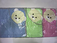 """Детское полотенце с капюшоном.Уголок """"Мишутка"""""""