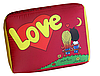 Подушка Love is червона