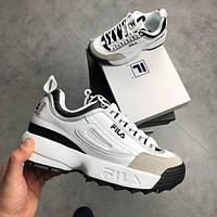 Кроссовки в стиле FILA Disruptor 2 White/Black женские