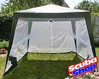 Шатер павильон садовый Super Picnic с москитной сеткой 3 х 3 метра (тент - полипропилен)