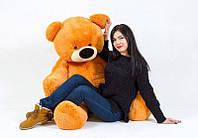 """Медведь-великан сидячий """"Бублик"""" 200 см.(медовый)"""