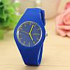 Силиконовые наручные часы Geneva, Синий 1, Унисекс