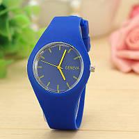 Силиконовые наручные часы Geneva, Синий 1, Унисекс, фото 1