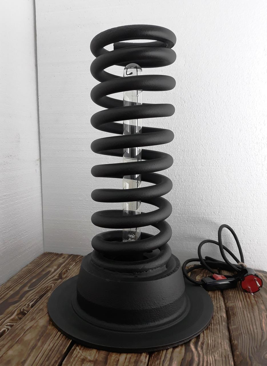 Лампа лофт из пружины автомобиля