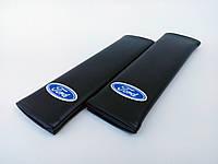 Подушки накладки на ремни безопасности Ford черные в авто