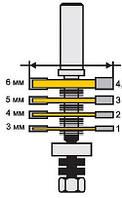 Фреза кромочная фальцевая, 4 диска ф50.8, хв.12мм (арт.10560), фото 1
