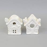 "Аромолампа для эфирных масел ""Домик"" CY803, керамика, 12х11х7 см, в коробке, аромалампа, аромо-лампа, аромо лампа для релакса, фото 1"