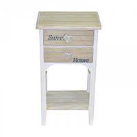 """Комод деревянный для дома """"Прованс"""" FF381, дерево, на 2 ящика, с полкой, 68х37х26 см, комод в прихожую, комод в гостинную, комод для интерьера"""