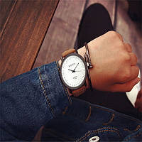 Наручные часы Rosinga, Коричнево - белый, Унисекс