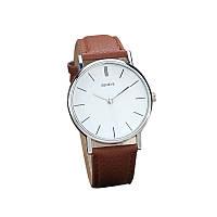 Классические наручные часы Geneve, Коричневый, Унисекс