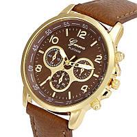 Классические наручные часы Geneva, Коричневый, Унисекс