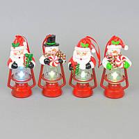 Новогодний фонарь для интерьера NG901, 13*6 см, с диодной подсветкой, Новогодние сувениры, Украшения новогодние, Праздничный декор