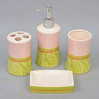 """Набор принадлежностей для ванной """"Pretty"""" YX4607? Керамика, в комплекте 4 предмета, набор аксессуаров для ванной, комплект для ванной"""