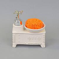 """Набор принадлежностей для ванной """"Barocco"""" YX5082, размер 15х14х7 см, керамика, в коробке, набор аксессуаров для ванной, комплект для ванной"""