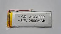 Литий - полимерный аккумулятор 3133100, 3,1x33x100мм, 1800 мАч, 3.7 В, литий - полимерная батарея, аккумулятор для элетроники