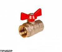 Кран шаровый бабочка металл Внутренний/Внутренний 1/2' KALDE