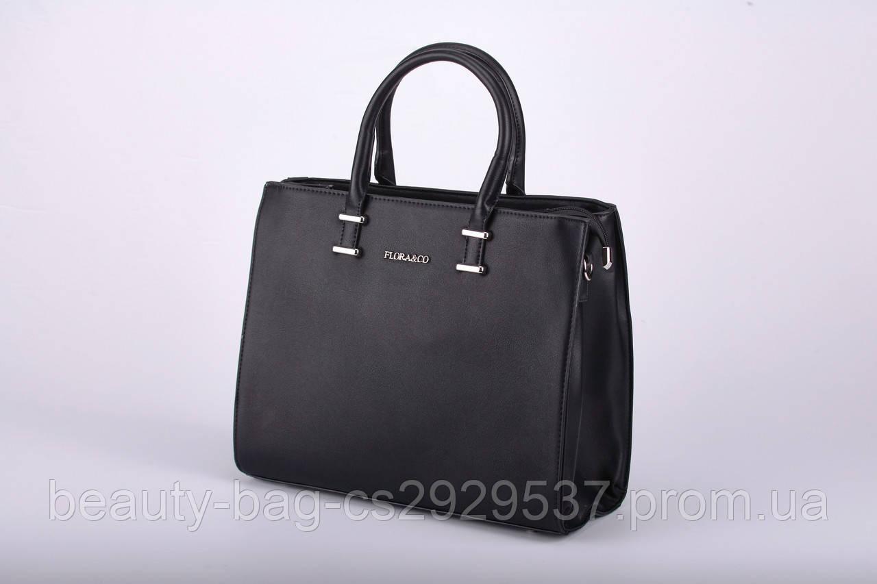 Сумка женская каркасная Flora&Co F5721 Noir черная