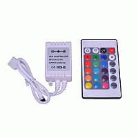 Пульт RGB - контроллер IR инфракрасный 6А, 24 кнопки на пульте