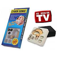 Слуховой апарат Cyber Sonic 0893 от батарейки, до 50 дц, 30гр, в комплекте 3 батарейки, 3 съемных уплотнителя