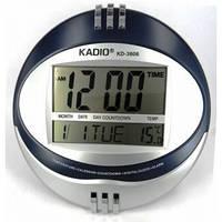 Часы электронные настольные KK 6870 с термометром, разные цвета, от батареек, 5 мелодий, секундамер, таймер