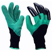 Перчатка с когтями для сада GARDEN GLOVE, короткая, многоразовая, полиэтилен, перчатка для земли