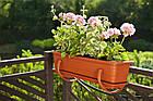 Балконний ящик для квітів, 400 мм, БІЛИЙ, фото 3