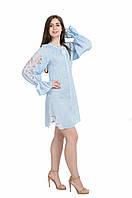 Сукня жіноча Диво-квітка міні, блакитний колір