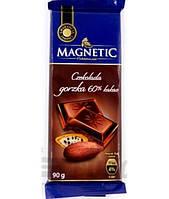 Шоколад чорний 60% какао Magnetic 100гр