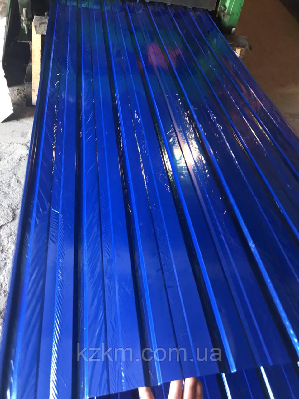 Профнастил синий RAL 5002