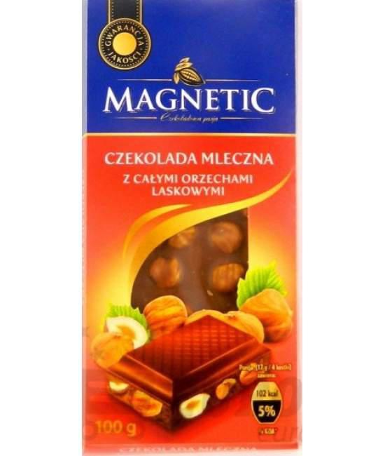 Шоколад Magnetic молочный с цельными лесными орехами 100 г