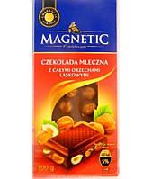 Шоколад Magnetic молочний з цілими лісовими горіхами 100 г