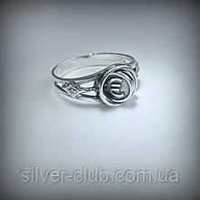 1031 Серебряное кольцо Бизнес с подвижным элементом  925 пробы