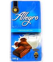 Шоколад Allegro молочний 100гр