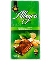 Шоколад молочый з арахісом Allegro 100г