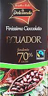 Шоколад чорний Dolciando 70% cacao 100гр