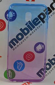 Оригинальный чехол силиконовый Gradient для Samsung J330 J3 Pro (Фиолетово-голубой)