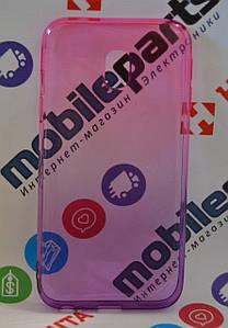 Оригинальный Чехол Силиконовый Gradient для Samsung J330 J3 Pro (Фиолетово-розовый)