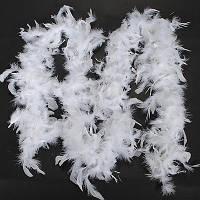 Боа из перьев белае 40 г