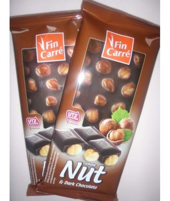 Шоколад чорный с лесным орехом Fin Carre 100гр