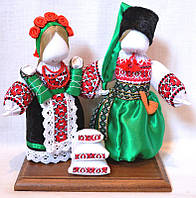 Кукла-мотанка КЛЮЙ Неразлучники Настя и Степан 25 см Разноцветная (K0007NNS)