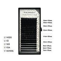 Ресницы на ленте для наращивания Nagaraku, Микс, Нагараку, 7-15 мм
