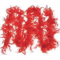 Боа красный для танцев и декора , 40 г