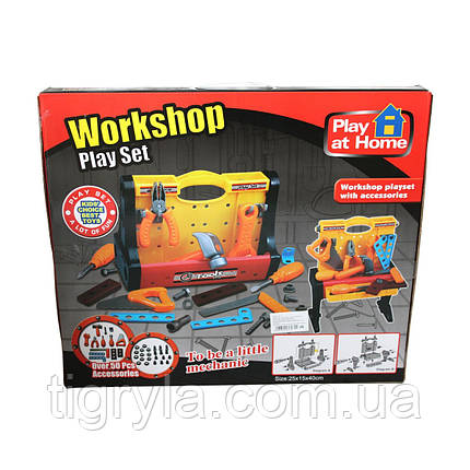 Игровой набор инструментов для мальчика на столике, фото 2